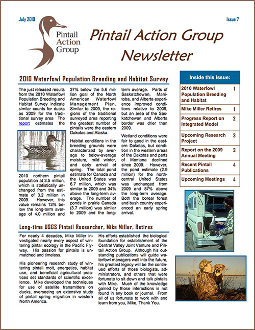 PAG Newsletter